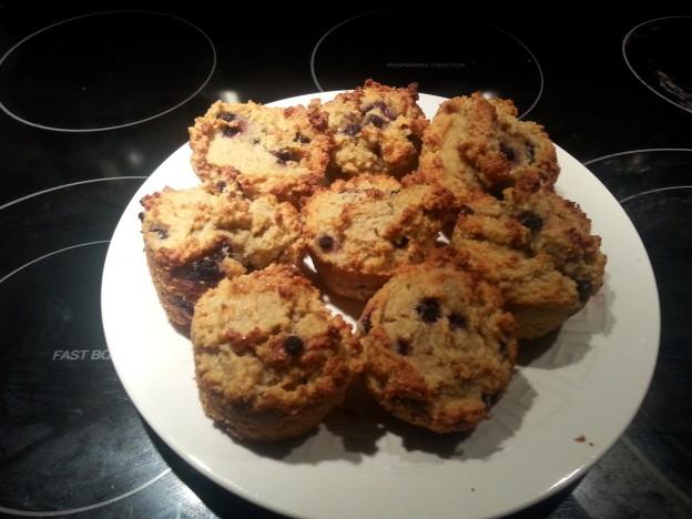Blueberry Lemon Paleo Almond Muffins